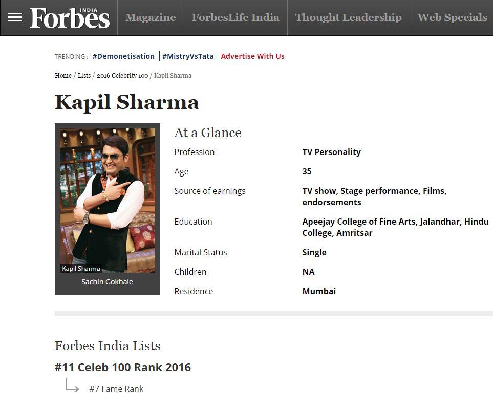 forbes-magazine-kapil-sharma-impact-guru