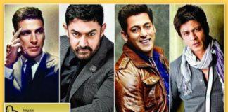 Box Office Comparison: Shah Rukh Khan Vs Salman Khan Vs Aamir Khan Vs Akshay Kumar