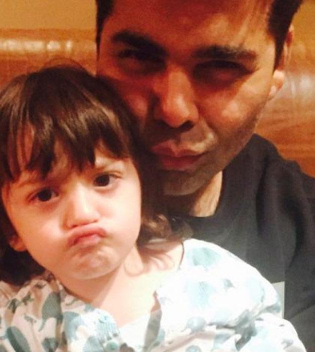 Abram with Karan Johar