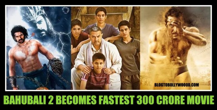 Bahubali 2 becomes fastest 300 crore grosser, beats Dangal, Sultan