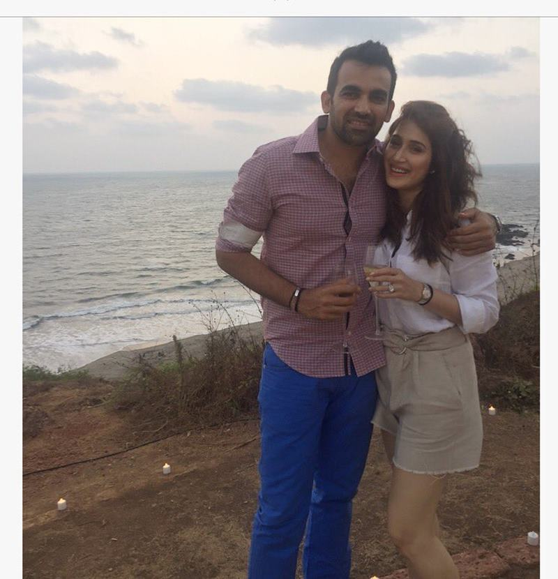 Zaheer Khan-Sagarika Ghatge are officially engaged now, check out the pics here