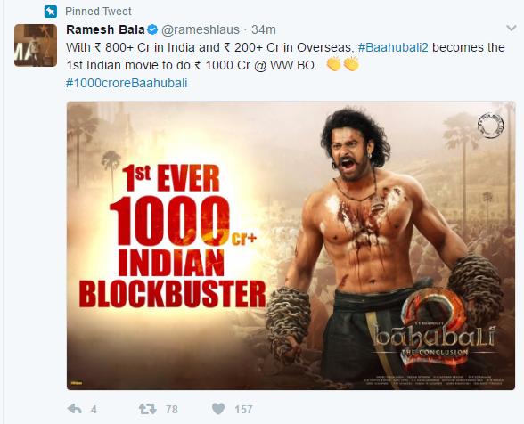 bahubali 2 1000 crores