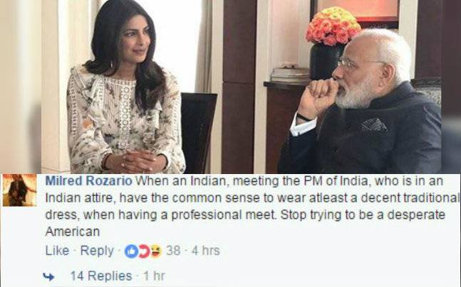 Priyanka Chopra slammed for dressing in short clothes while meeting PM Modi in Berlin