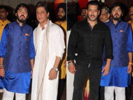 Mukhesh Ambani's Ganesh Chaturthi Party - Salman and Shahrukh