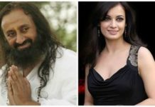 diya mirza is a follower of Sr Sri Ravishankar