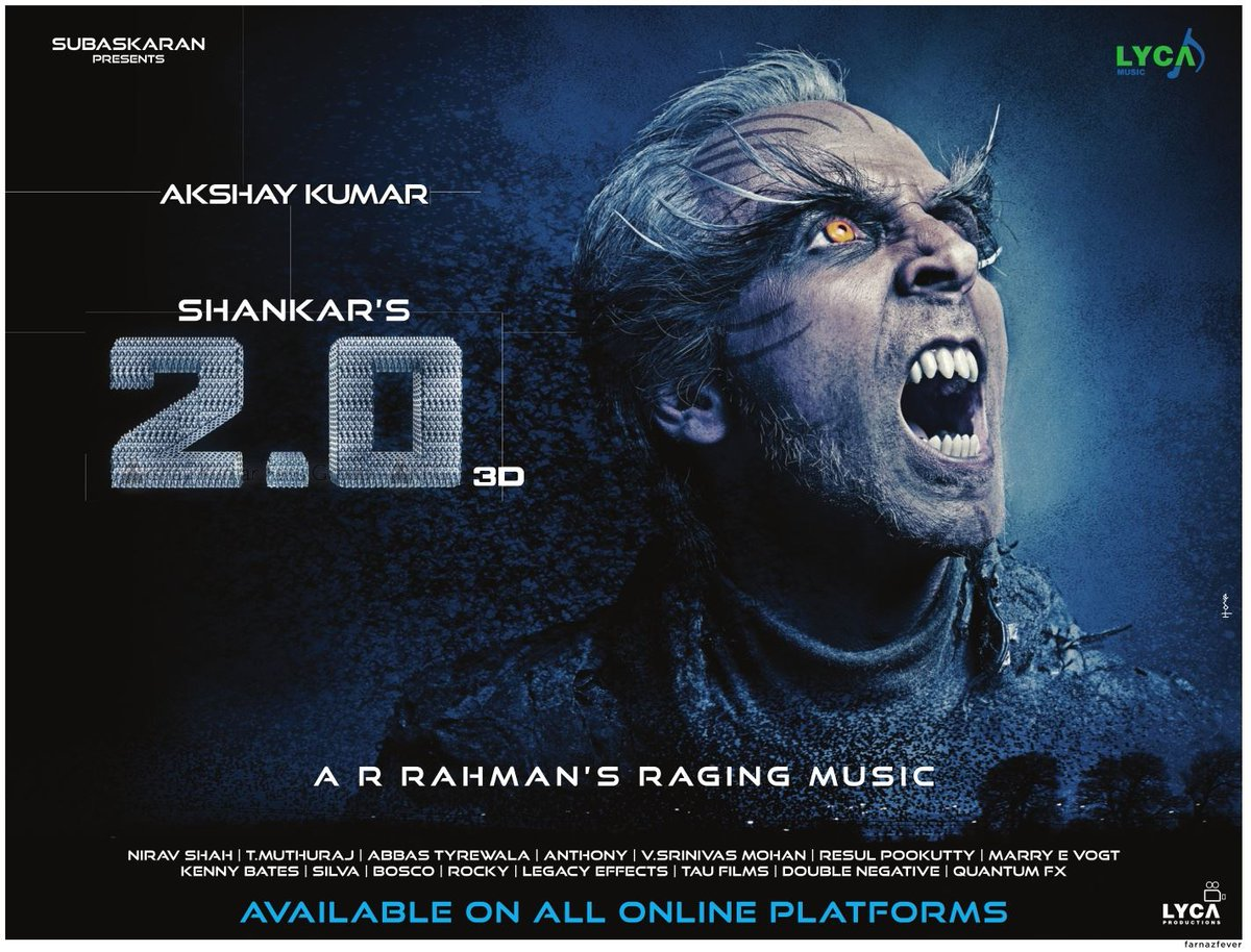 Check Out The New Posters Of Robot 2.0 Featuring Deadly Dangerous Akshay Kumar