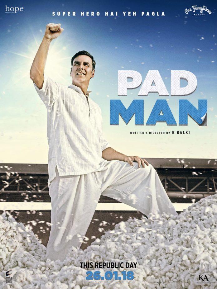 New poster of padman - Akshay Kumar is a Superman