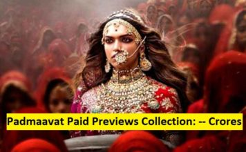 Padmaavat paid previews collection