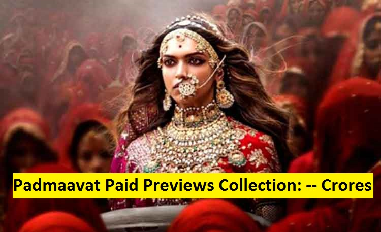 Padmaavat is off to an ordinary start, despite huge buzz fails to earn big on paid previews