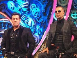 Pad Man Akshay Kumar and Dabangg Salman Khan For Bigg Boss 11 Finale