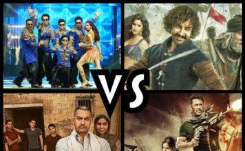 Thugs of Hindostan Vs Dangal Vs Tiger Zinda Hai Vs Happy New Year Box Office Collection