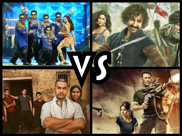 Thugs of Hindostan Vs Dangal Vs Tiger Zinda Hai Vs Happy New Year Box Office Collection