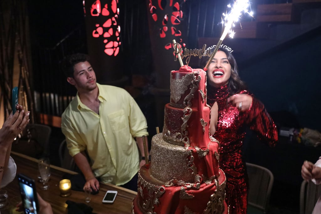 Quantico actress Priyanka Chopra wears sindoor at birthday party