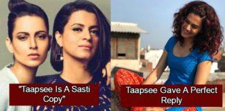 Taapsee Pannu's response to Rangoli's Sasti Copy remark