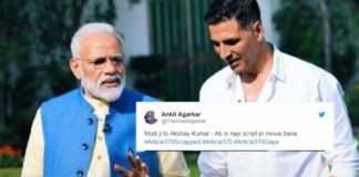 Twitterati Are Congratulating Akshay Kumar On Getting A New Script As Article 370 Gets Scrapped