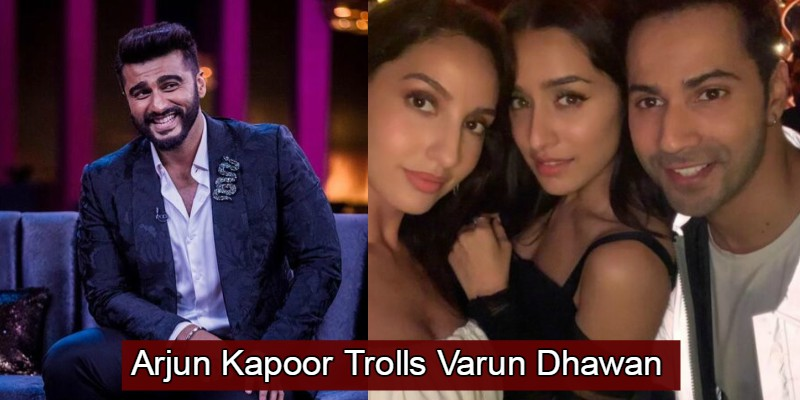 Arjun Kapoor Trolled Varun Dhawan For His Eyebrows In His Latest Selfie, It Is Too Funny To Be Missed