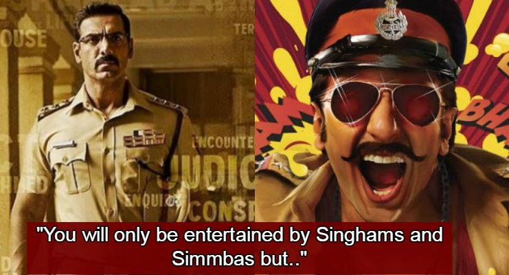 John Abraham Makes A Big Statement On The Singhams & Simmbas Of Bollywood