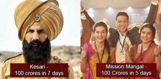 Mission Mangal Becomes Akshay Kumar's Fastest Movie To Enter 100 Crore Club