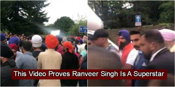 Hundreds Of Fans Show Up To Meet Ranveer Singh In Southall, Video Is Going Viral