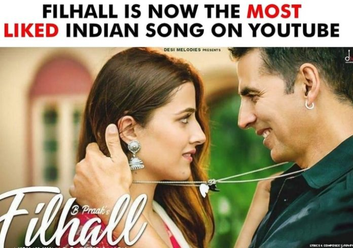 Filhall Feat. Akshay Kumar Becomes Most Liked Indian Video On YouTube