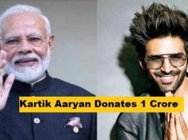 Kartik Aaryan donates Rs. 1 crore to PM Narendra Modi's CARES fund