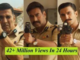 Sooryavanshi Trailer Gets 42+ Million Views In 24 Hours, Shatters Shah Rukh Khan's Zero Record