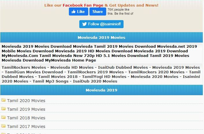 Moviesda (Isaimini): Download Tamil Movies Free, Alternatives, Proxies