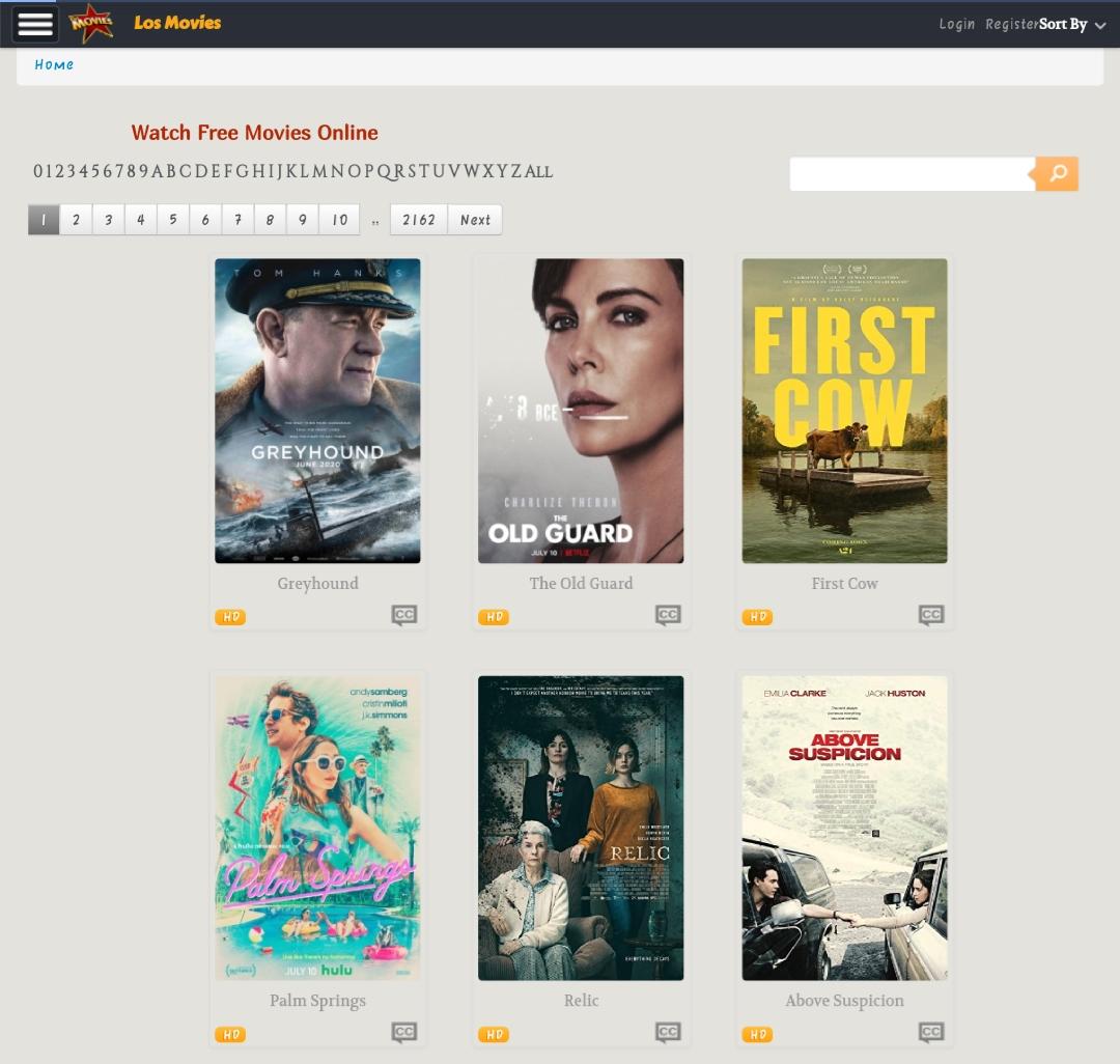 Los Movies site