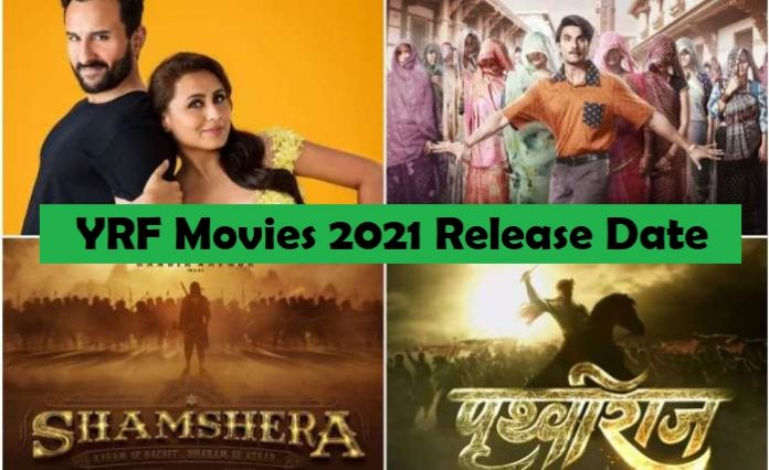 YRF Slate 2021: Movies releasing this year